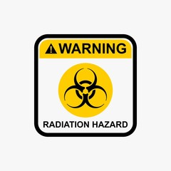Radiation hazard icon nuclear warning sign vector design