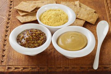 Wholegrain Dijon and English Mustard