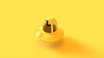 Yellow UFO 3d illustration