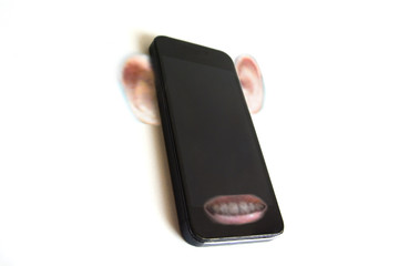 Phone with ear and mouth