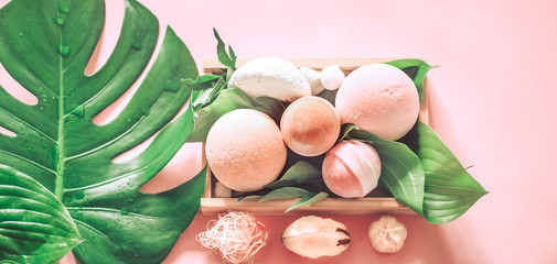 salt bath bombs still life