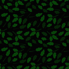 Seamless small floral tropical leaf autumn color Pattern in Vector hand drawn  modern design