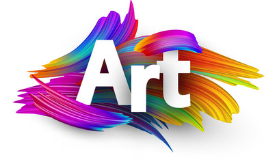 Art paper poster with colorful brush strokes.