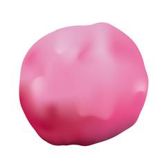 pink clay illustration