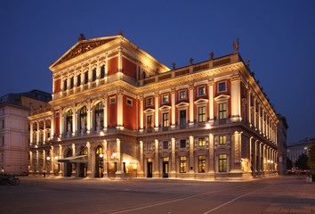 Deurstickers Theater Wiener Musikverein in Vienna. Austria