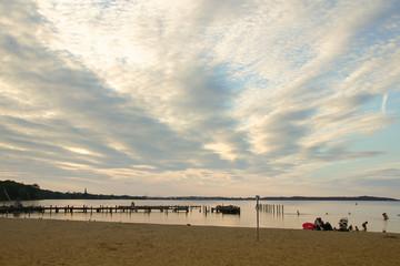 Sunset, Zippendorfer Strand, Schwerin