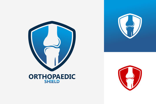 Orthopedic Shield Logo Template Design Vector, Emblem, Design Concept, Creative Symbol, Icon