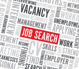 job search text background
