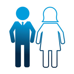 people pictogram man and woman