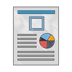 document file with statistics pie graphic icon