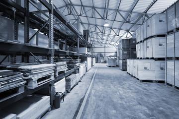 storage of goods in modern warehouse