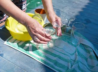 Drying Wine Glasses