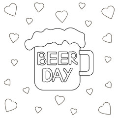 Beer day poster.