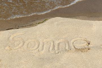 Botschaft im Sand - Sonne