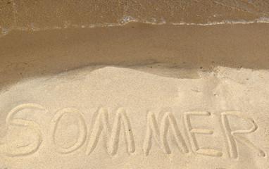 Botschaft im Sand - Sommer