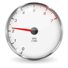 Tachometer. 3d vehicle gauge
