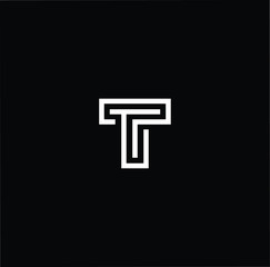 Outstanding professional elegant trendy awesome artistic black and white color T TT initial based Alphabet icon logo.
