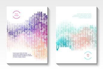 Vector geometric cover design