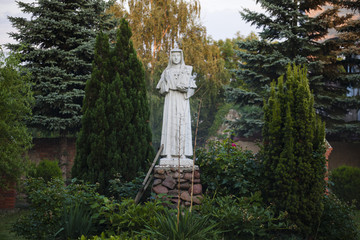 Monument of St. Faustina Kowalska  in the courtyard of the sanctuary of the Mother of God in Swieta Katarzyna, Lower Silesian Voivodeship