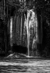 black and white waterfall nature season spring - 215972408