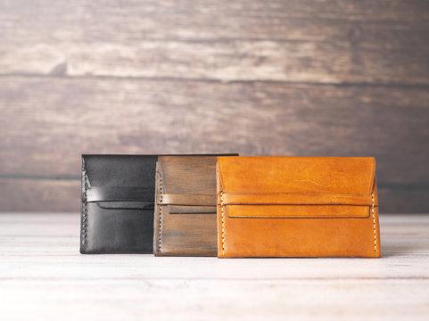handmade leather wallet purse