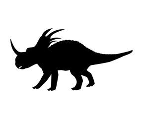 Styracosaurus silhouette dinosaur jurassic prehistoric animal