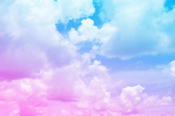 Beautiful vintage of colorful cloud and sky abstract for background, soft color and pastel color