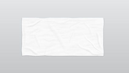 Clear White Soft Beach Towel For Branding
