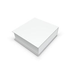 3D White Gift Box Packing For Branding