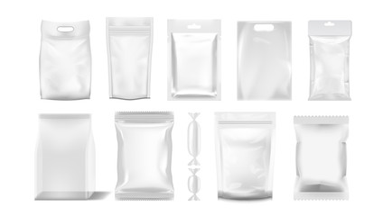Big Set Of Transparent Empty Plastic Packaging