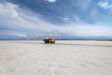 Salt Truck in Salinas Grandes Salt Flat - Jujuy, Argentina