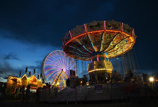 Swings and ferris wheel