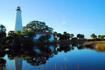 St Marks Lighthouse / St Marks Lighthouse on the northeastern Florida Gulf coast