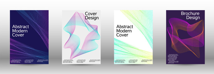 A set of modern abstract covers.