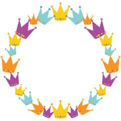 Vector Crowns Wreath