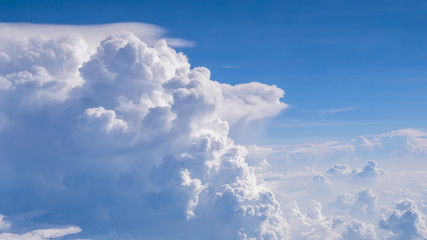 Fluffy clouds in the blue sky 1