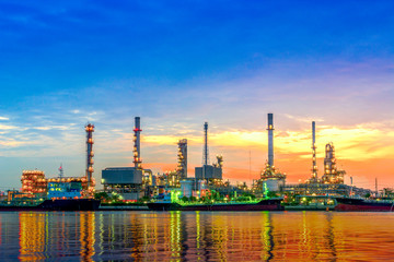 Oil refinery in morning