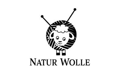 Natur Wolle , Stricken
