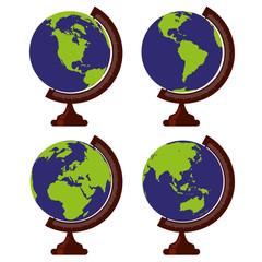 globe - terre - globe terrestre - planète - carte - planisphère - orientation - environnement - écologie