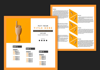 Flyer Layout with Orange Accents