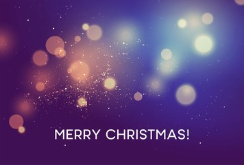 Merry christmas Winter vector blurred background. Vector illustration