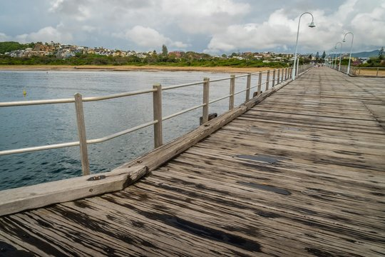 Coffs Harbour and its pier in New South Wales, Australia