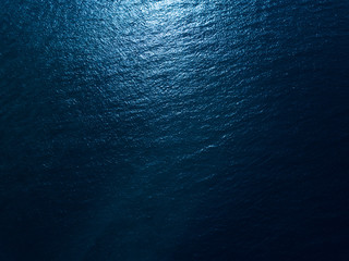 Wall Mural - Sea surface aerial view. Dark and contrast version