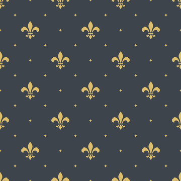 fleur-de-lis seamless pattern background