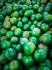 The green lemons.