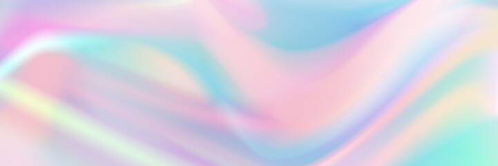 horizontal abstract pastel holographic texture design for pattern and background. Fotoväggar