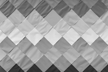 Abstract background from white, gray and black paper pattern decoration on wall. Square shape wallpaper. Picture for add text message. Backdrop for design art work.