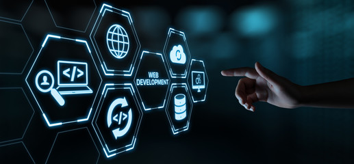 Web Development Coding Programming Internet Technology Business concept Wall mural