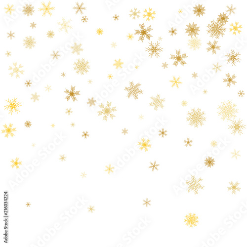 white christmas snowflakes background gold snowflakes snowflakes confetti