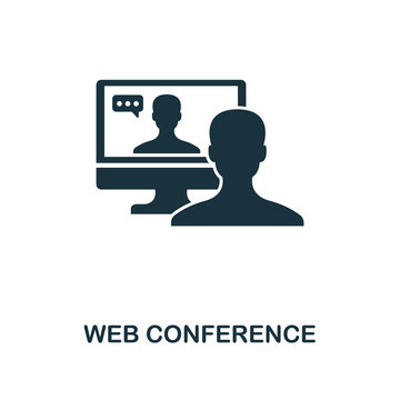 Web Conference creative icon. Simple element illustration. Web Conference concept symbol design from contact us collection. Perfect for web design, apps, software, print.